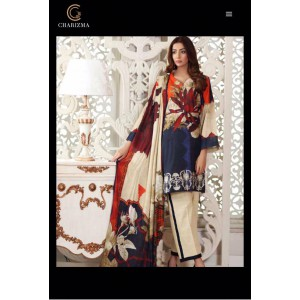 Charizma 3-piece Embroidered unstiched suit with wool Shawl