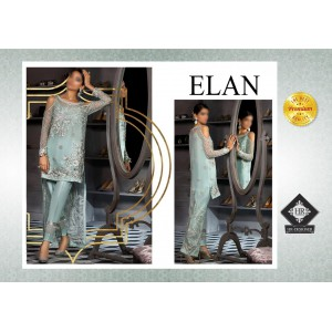 ELAN full Suite on Net Fully Embroidered with Handwork