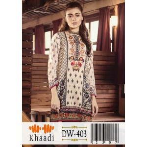 Khaadi 0000403 2  Piece suite in Khaddar stuff with full embroidery