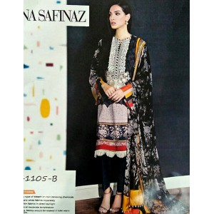 Sana Safinaz 1105 3-piece Khaddar unstiched suit with Wool Shawl